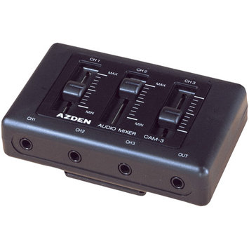 Azden CAM-3 On-Camcorder Mini Audio Mixer