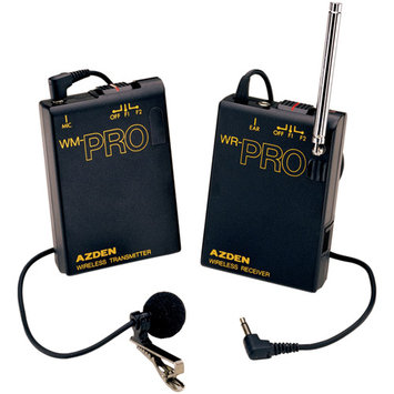 Azden Pro Series Wireless Lavaliere Microphone And Transmitter