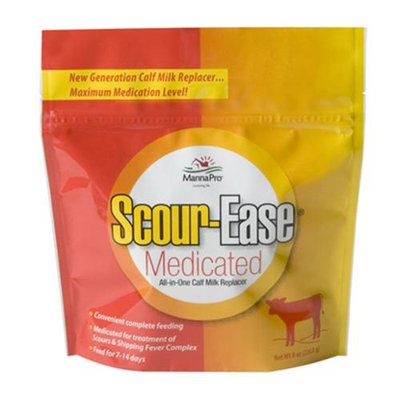 Manna Pro-Farm 667747 8oz Scour-Ease Medicated All-In-One Calf Milk Replacer