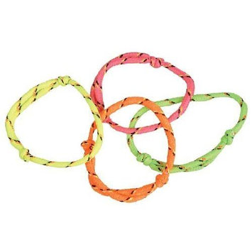 Rhode Island Novelty ~ 144 (1 Gross) ~ Neon Rope Friendship Bracelets ~ New