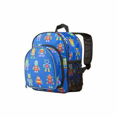 Wildkin Olive Kids Robots Pack 'n Snack Backpack - Blue Kid's