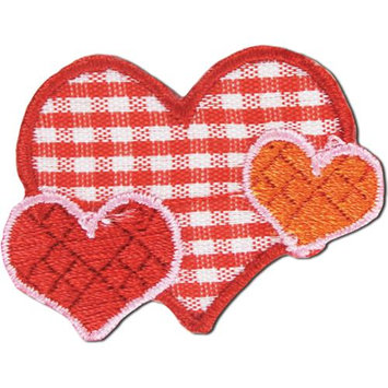 Blumenthal Lansing Iron-On Appliques-Plaid Hearts