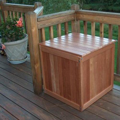 Prairie Leisure Classic Outdoor Wood Storage Cube