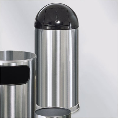 Rubbermaid European & Metallic Series Dome Top Receptacle