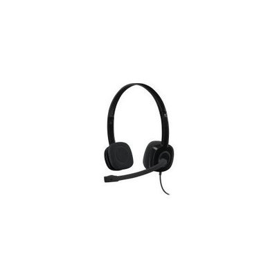 Logitech Stereo Headset H151 - Stereo - Black - Mini-phone - Wired - 22 Ohm - 20 Hz - 20 Khz - Over-the-head - Binaural - Supra-aural - 5.91 Ft Cable (981-000587)