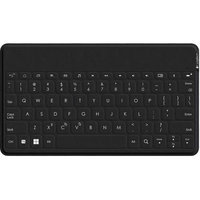 Logitech Ultra-portable, Stand-alone Keyboard - Wireless Connectivity - Bluetooth - Compatible With Tablet, Smartphone - Qwerty Keys Layout - Black (920-007181)