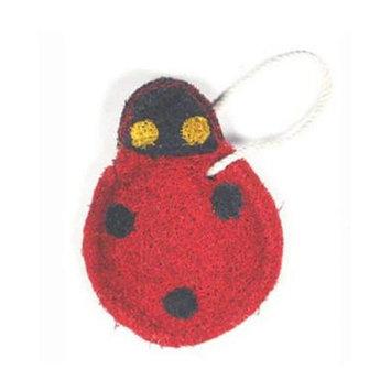 Loofah-Art Lady Bug Natural Loofah Scrubber, 1-Item