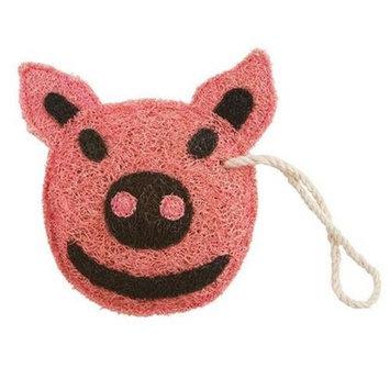 Loofah-Art Piggy Natural Loofah Scrubber, 1-Item