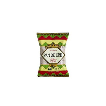 Pan De Oro White Corn Tortilla Chips Case of 12 bags 7.5 oz per bag