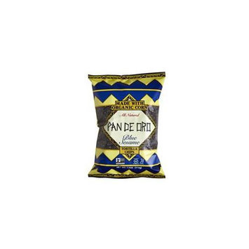 Pan De Oro Blue Sesame Tortilla Chips Case of 12 bags 7.5 oz per bag