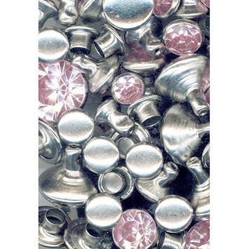 Tandy Leather Factory Leather Factory 407596 Crystal Rivets 24-Pkg-Light Pink