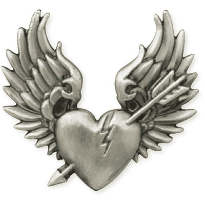 Leather Factory 389640 Antique Silver Concho 1.25 in. Broken Heart