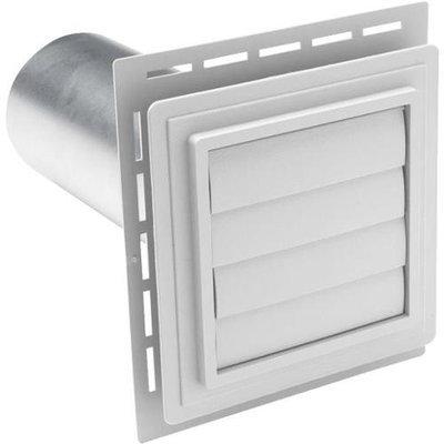 7-in x 7-in Gray Bathroom/Dryer Exhaust Mounting Block 242877