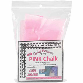 Hancy Quilt Pounce Pad with Chalk Powder, Pink, 4 oz