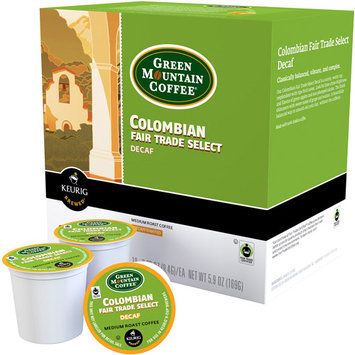 Keurig K-Cup Portion Pack Green Mountain Coffee Colombian Fair Trade Select Decaf Coffee - 18-pk.