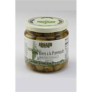 Arnaud 18972 Green Olives 14.7 oz. Jar Pack of 6