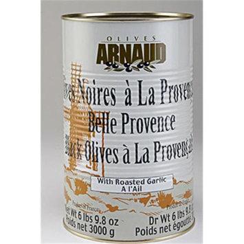 Arnaud 11317 6.61 Lb. DW Black Olives Garlic Pack of 3