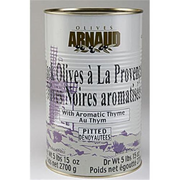 Arnaud 36824 5.94 Lb. DW Black Olives Pitted Pack of 3