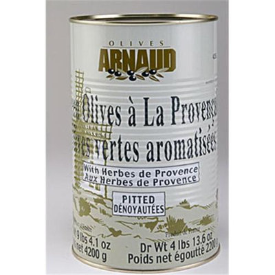 Arnaud 11868 4.85 Lb. DW Green Olives Pitted Pack of 3