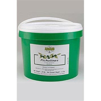 Arnaud 17757 11 Lb. DW Picholine Olives Pack of 2