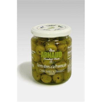 Arnaud 23313 Pitted Green Olives 9.2 oz. Pack of 6