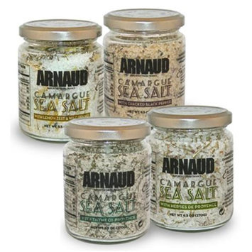 Arnaud 23323 Camargue Sea Salt - Cracked Pepper 8.8 oz. Pack of 6