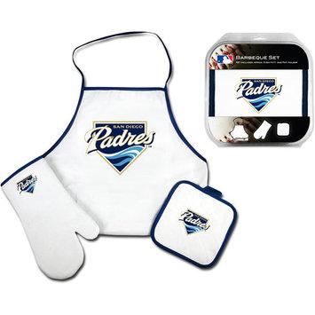 Mcarthur Towel San Diego Padres 3-Piece BBQ Tailgate Set White
