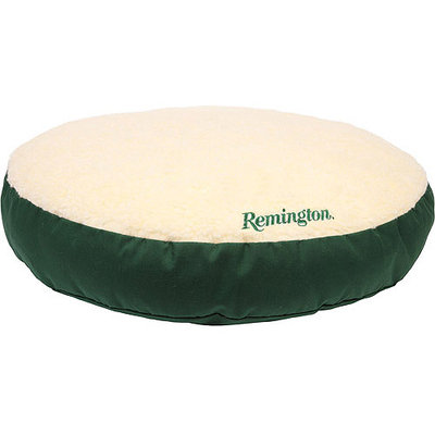 Remington Sherpa Twill Classic Round Dog Bed