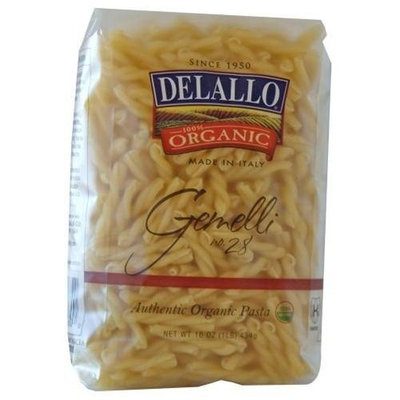 DeLallo Organic Gemelli #28, 16-Ounce Units (Pack of 16)