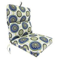 Jordan Outdoor Universal Chair Cushion - Blue/Green/Yellow Geometric
