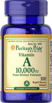 Puritan's Pride Vitamin A 10,000 IU-100 Softgels