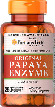 Puritan's Pride Papaya Enzyme-250-Chewables