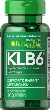 Puritan's Pride 2 Units of Natural KLB6-100-Softgels