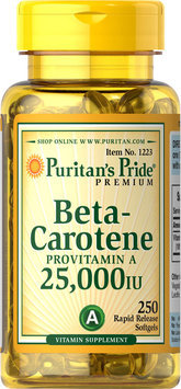 Puritan's Pride 2 Units of Beta-Carotene 25,000 IU-250-Softgels