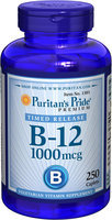 Puritan's Pride 2 Units of Vitamin B-12 1000 mcg Timed Release-250-Tablets