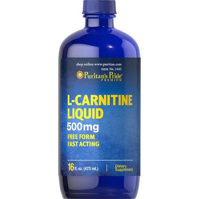 Puritan's Pride L-Carnitine Liquid 500 mg-16 oz Liquid