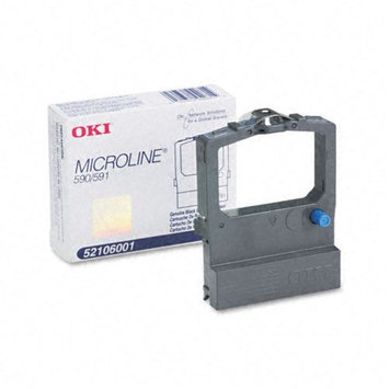 Oki OKI Data 52106001 Black Ribbon Cartridge for ML590, ML591