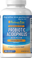 Puritan's Pride 2 Units of Probiotic Acidophilus with Pectin-250-Capsules