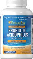 Puritan's Pride 2 Units of Probiotic Acidophilus with Pectin-250-Capsules