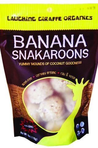 Laughing Giraffe Organics Snakaroons Gluten Free Banana 6 oz - Vegan