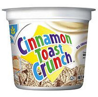 Cinnamon Toast Crunch Cereal in a cup