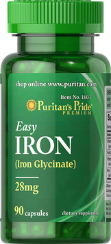 Puritan's Pride 2 Units of Easy Iron 28 mg (Iron Glycinate)-90-Capsules