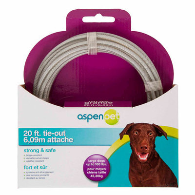 Ims Pet Industries Tie Out Cable - 20' For Dogs Up To 100 lbs