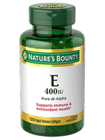 Nature's Bounty Vitamin E 400 IU 120 Rapid Release Softgels