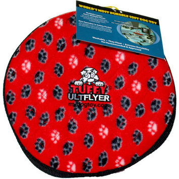 Tuffy's Dog Toys Tuffy's Pet Products Bowmerang Dog Toy in Red Paw