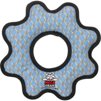 Tuffy Mega Gear Ring Chain Link Dog Toy (Blue)