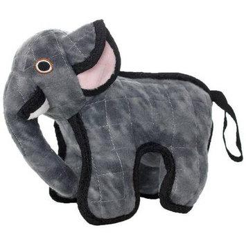 Tuffy Elephant Dog Toy (Grey)