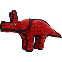 Tuffy Triceratops Dog Toy (Red)
