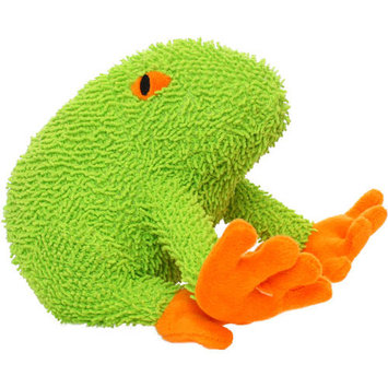 Mighty Frog Microfiber Dog Toy (Green)