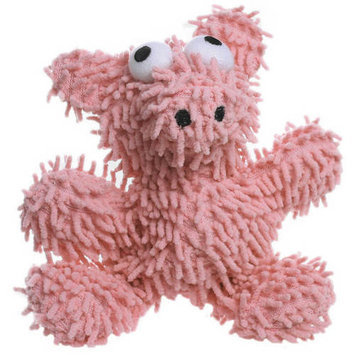 Mighty Jr Pig Ball Microfiber Dog Toy (Pink)